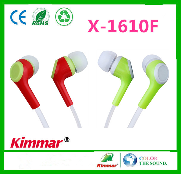 2015 New Arrival Colourful Flat Cable In Ear Earphones With Mic For mp3