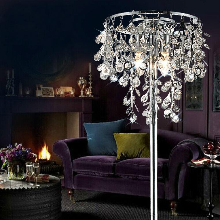 crystal chandelier floor lamp buy crystal chandelier floor lampcrystal floor floor lamp product on alibabacom
