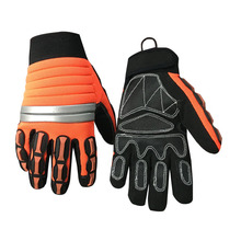 Hi-Vis Anti-vibration Work Gloves molded knuckle impact protection hand miners gloves