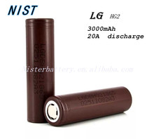100% original LG hg2 18650 Li-ion Battery 3000mAh lg 18650 hg2 3000mah HG2 35A Max. Discharge rechargeable 18650 bat