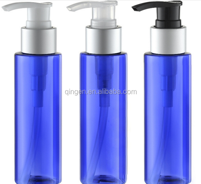 100ml amber blue colored PET Empty Spray Plastic Bottle for Shampoo/ lotion/body lotio/essential oil/ Hand Sanitize/Toner