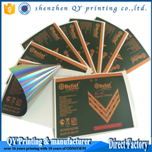 Custom printing self adhesive packing labels battery USB Memory Card logo stickers