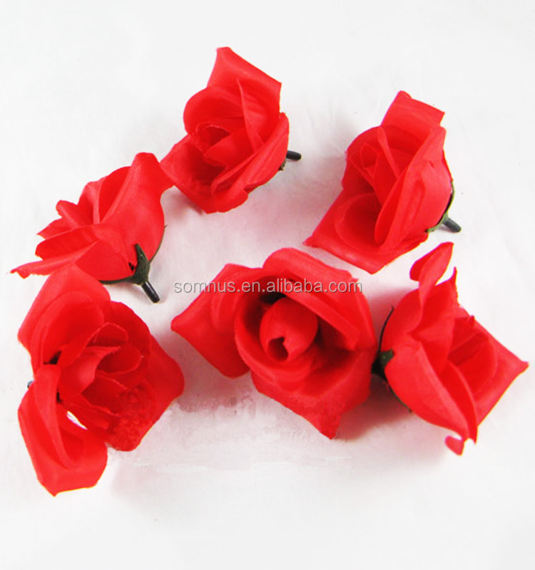 Handmade Nylon Cloth Make Flowers for Sale FH0077B