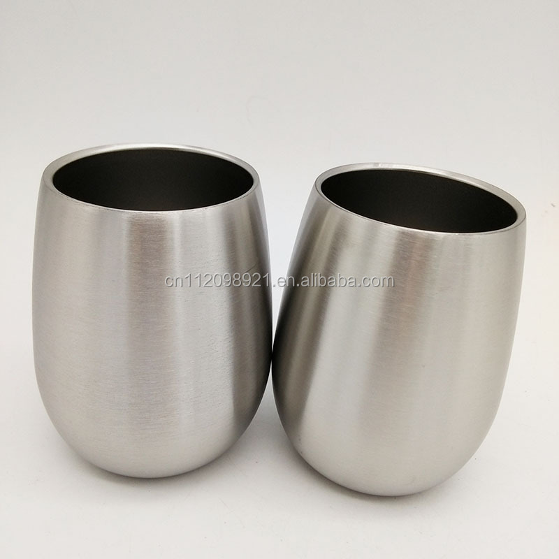 9oz China manufacturer wholesale 18/8 stainless steel wine glass for bar party hot selling gift