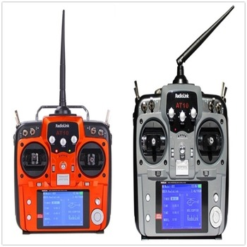 F07627 RadioLink AT10 2.4GHz 10CH Remote Control System 10 Channel Transmitter Receiver R10D for RC Helicopter