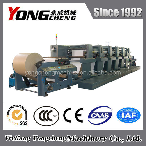 YC1000RY High Quality Multi Color Corrugated Carton Flexo Printing Machine