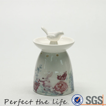 Dolomite Material Round-shaped ceramic oil burner for home decoration