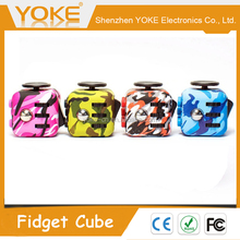 Anti Stress Six Sides Plastic Magic Camouflage Fidget Cube
