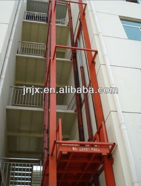 Chain Rail Hydraulic Cargo Lift, hydraulic lift elevator drawing