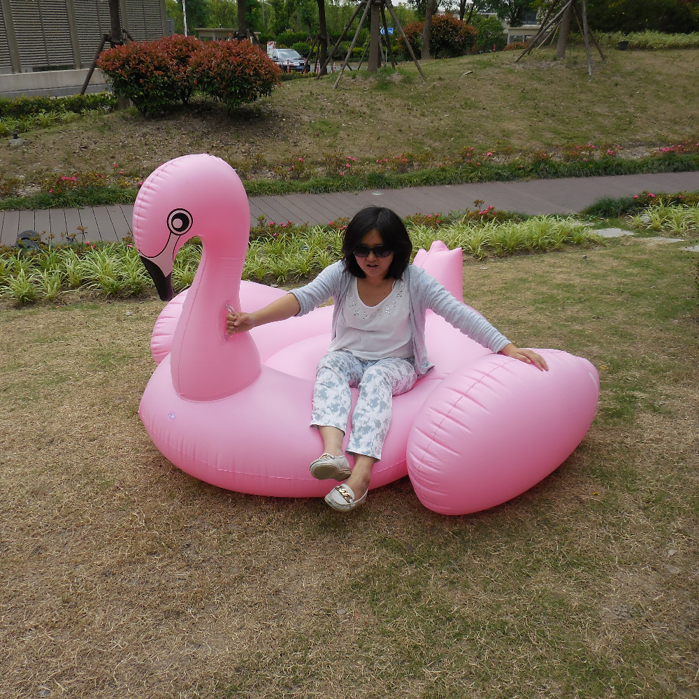 Party floatie toys pink flamingo raft giant inflatable flamingo