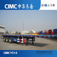 Truck Trailer Use and BV,SASAO,DOT,ADR Certification 3 Axle 45'' Flatbed Semi Trailer for sale