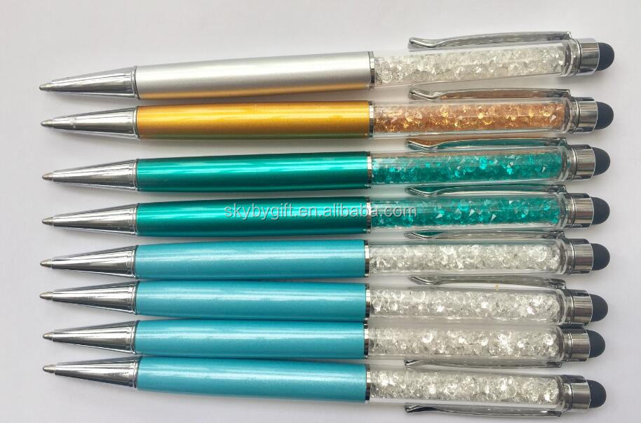 Various Stone Diamond Ballpoint stylus Screen Phone Touch Crystal pen