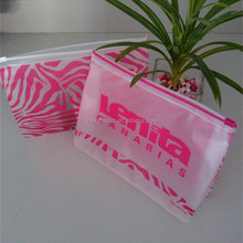 PP Plastic gift present /custom pvc zip lock plastic bikini /cosmetics packaging bag