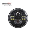 New 7 inch Sealed Beam Headlight Round H4 Round Black Chrome LED Head Light