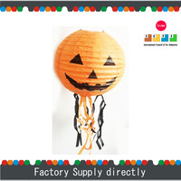 New Cheap Paper Pumpkin Decorative Hanging Lamp with Tassel