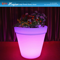 bucket shape flower pot& illuminated multicolor change round led flower/planter pot/vase