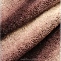 long pile polyester fake wolf fur fabric