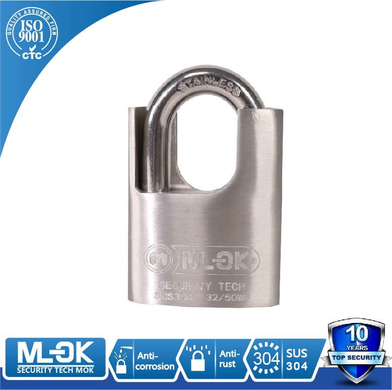 MOK@32/50WF padlock manufacturer extreme weather resistant outdoor steel padlock with raised shoulder