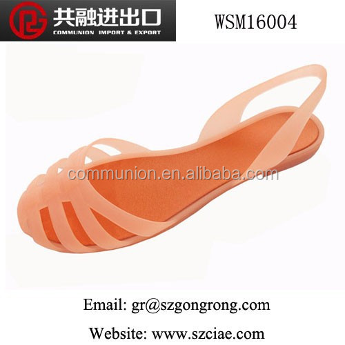 latest summer fashion PVC sandals/slippers Roman style crystal jelly women's shoes
