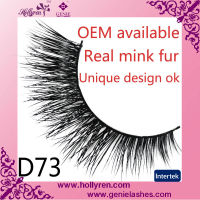100% real mink fur false eye lashes manufacturer