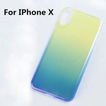 Newest Wholesale Alibaba Online Gradient Plastic Shockproof pc Mobile Phone Case Shell For IPhone X Cover