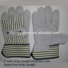 10.5'' cow spilt leather winter glove with best price