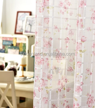 quality curtains print sheer polyester shower curtain with hooks