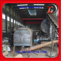 Agriculture waste recycling system making charcoal plant