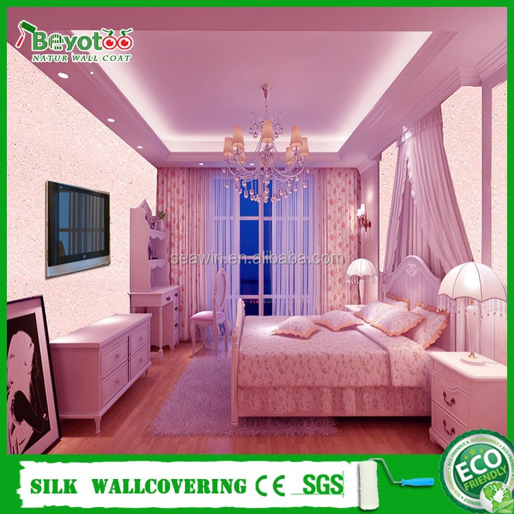 eco-friendly powder wall coating paint removable wall cloth paint