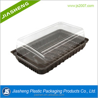 Custom and wholesale disposable plastic cake tray/plastic tray for cake