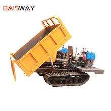 Baisway 2000 kg load 40 cm height rear tipper hopper crawler carrier