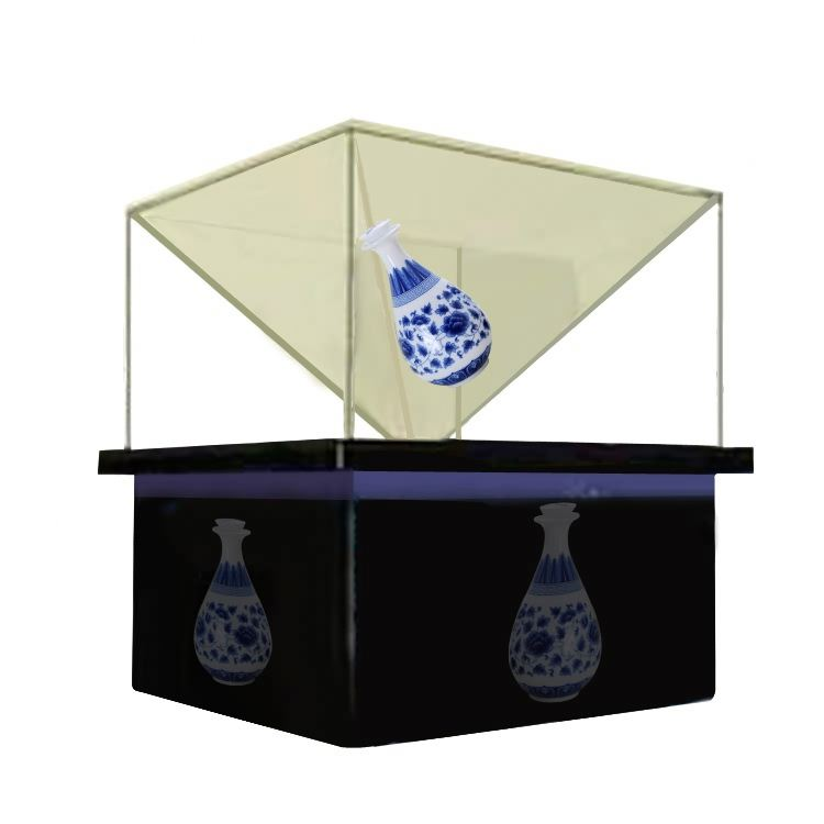 Indoor 3d holographic display pyramid hologram screen film
