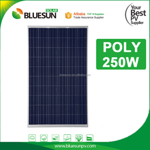Hot sale 250 watt 250w photovoltaic solar panels with silver frame for home