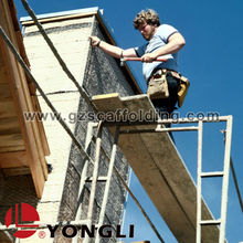 Movable scaffolding platform construction