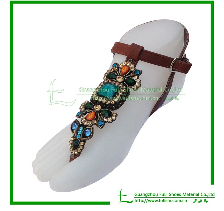 S135 Colorful Slipper Upper For Ladies Shoes Of Resin