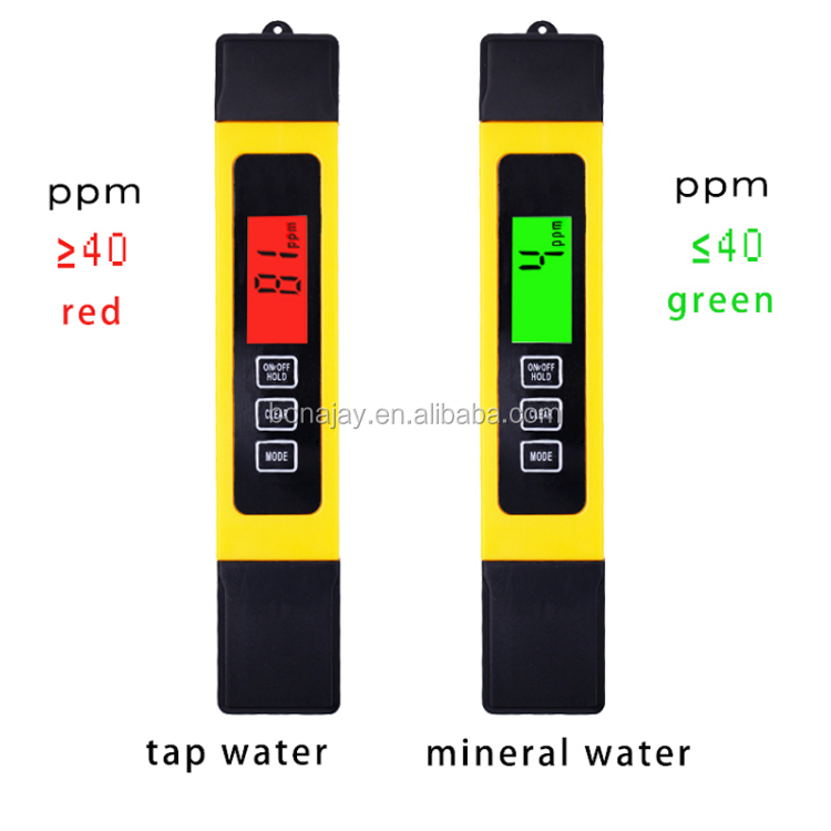 3 In1 Digital backlight LCD Water Filter Purity Pen Liquid Quality Tools TDS EC with Temperature Meter