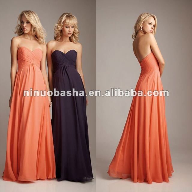 Empire Waist and Sweetheart Neckline Chiffon Bridesmaid Dress