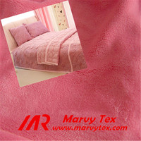 textile fabric supplier brushed cotton burn out velboa fabric