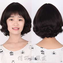 Factory Sale Short Curly Fluffy Black Synthetic Wigs For Women