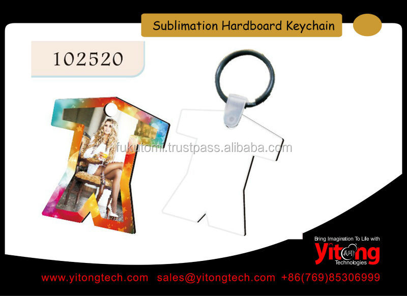 Personalized Sublimation Unisub Hardboard Key Tag