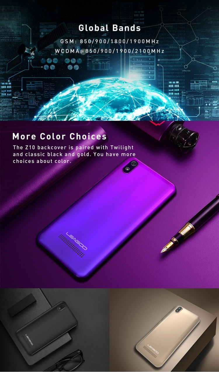 Most Popular Wholesale Android Phone LEAGOO Z10, 1GB+8GB 5.0 inch Dual SIM Mobile Phone