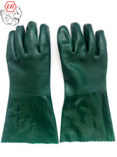 PVC double dip sandy finish oilproof <strong>safety</strong> glove