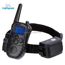2017 Tonsim latest Fully Waterproof and Rechargeable Remote Electric Dog Training Collar