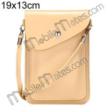19x13cm Magnetic Snap PU Leather Pouch Multifunctional Cell phone Shoulder Bag for iPhone, Samsung, HTC, Sony etc with Belt