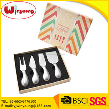 4 Piece Gift Stainless Steel Knife Spreader & Cutter Cheese Knives Set