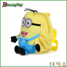 best seller funny yellow plush cartoon toy carry bags for kids