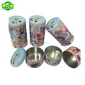 Three Layers Food Grade Metal Cookie Tins Box With Cartoon Printed