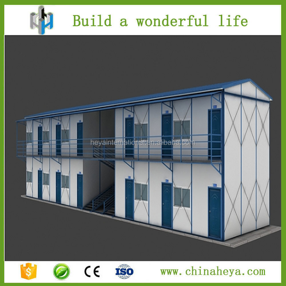 Easy install bamboo prefabricated house building for labor