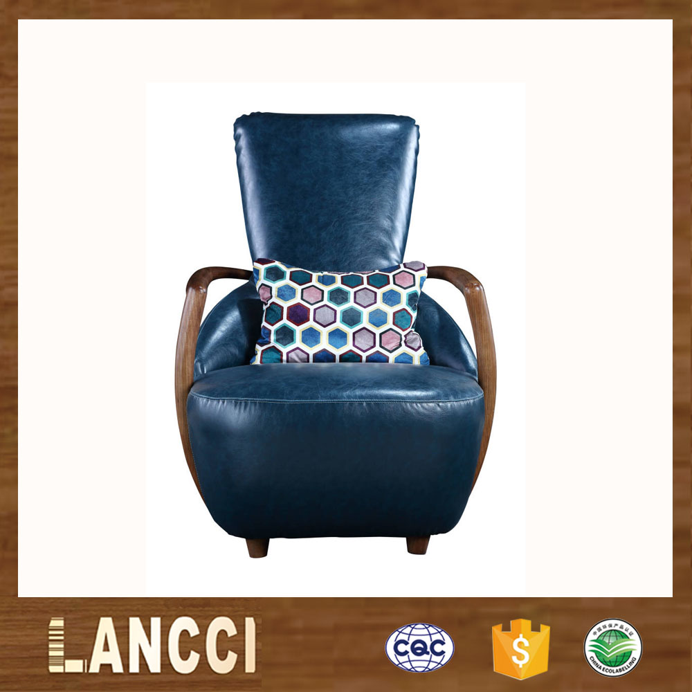 Factory price lastest design solid wood frame high back sex sofa chair