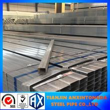 pre galvanized steel pipe hollow section can be customized!hot dipped galvanized square hollow section